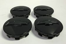 2015 2016 Chevrolet OEM Black Wheel Center Cap NEW Bowtie Logo (Qty 4)