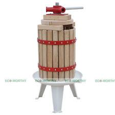 6L Fruit Apple Cider Press Apple Crusher Juice/Wine Maker Oak Apple Pressing US