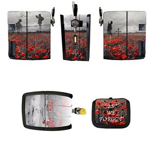 PD Perfect Draft Skin Wrap Poppy Remembrance lest we forget pub shed home bar
