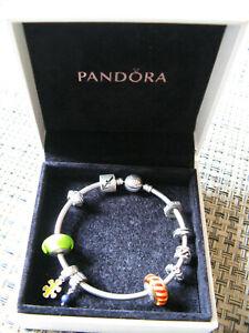Pandora Armreif mit Kugelverschluss 17 cm und 10 Elemente plus Pandora Opener.