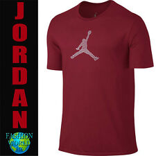 Nike Men's XL Jordan Engineered For Flight Dri-Fit T-Shirt Crew Neck Red 801046