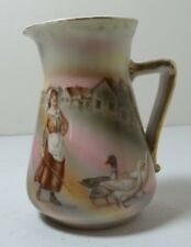 Royal Bayreuth Bavaria Creamer Girl With Geese