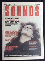 Sounds Music  Magazine January 10 1987 Jon Bon Jovi Geldof Readers Poll