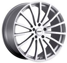 17x8 TSW Mallory 5x112 Rims +32 Silver Wheels (Set of 4)