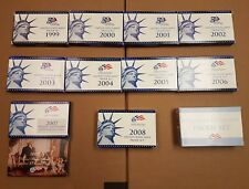 1999-2009 Clad US Mint Coin Proof Sets as Pictured.
