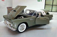 1:24 Scala 1956 Verde Ford Thunderbird Convertibile Motormax Automodello Metallo