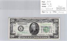BILLET USA - 20 DOLLARS 1934 - E RICHMOND - RARE