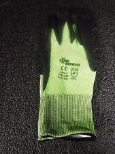 "Zone Defenseâ""¢ Green Hppe Shell Cut Resistant Gloves, Black Nitrile Palm Coat,(G)"