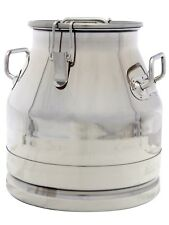 5 Gal. Milk Can Tote, Stainless Steel 20 Qt. Heavy Duty Sides, Strong Sealed Lid