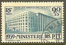 "FRANCE TIMBRE STAMP N° 424 "" PARIS MINISTERE DES PTT "" OBLITERE TB"