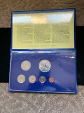 1975 First Coinage of the British Virgin Islands 6 Coin Set Silver Dollar