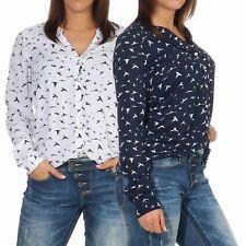 34/% OFF B19115232 Damen Eight2Nine Bluse V-Neck Shirt Knopfleiste tailliert blau