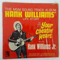 Hank Williams' Life Story Your Cheatin' Heart VINYL LP MGM
