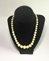 """Joan Rivers Gold Tone Chains Cream Color Pearl Necklace 17"""""""