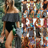 Women One Piece Bikini Push-up Padded Swimsuit Bathing Swimwear Beach Monokini A