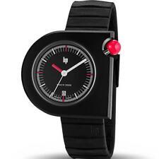 LIP French Men Black Mafia Moon Stainless MACH 2000 Swiss 42mm Watch 1892212 Box