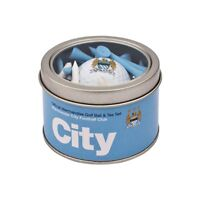 MANCHESTER CITY FC GOLF GIFT SET. GOLF BALL AND TEES