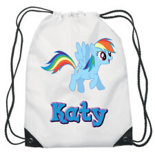 My Little Pony Drawstring Swimming, School, PE Bag For Girls Personalised