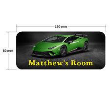 Lamborghini Door Plaque - Super Car Personalised Childrens Bedroom Sign Boy Girl