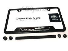 Range Rover Land Rover Logo Black Finish Steel License Plate Frame Genuine New