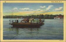 Stowe NY Car Ferry Linen Postcard
