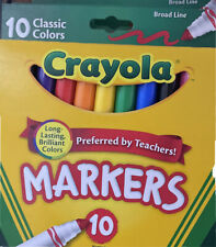 Crayola Broad Line Markers Assorted Colors 10 Count New!