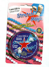 Clear Stretch Magic Cord 1mmx5M jewelry crafts bracelets rave necklaces kids