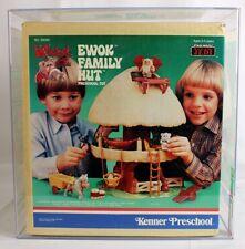 Star Wars Vintage Kenner Preschool Boxed ROTJ Ewok Family Hut Ewok Fire Cart AFA