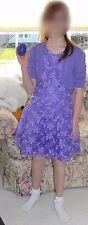 The Children's Place Purple/Lavender Lace Summer Dress & Shrug Bolero EUC 14