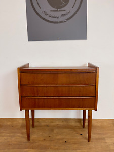 VINTAGE RETRO DANISH  SMALL CHEST OF DRAWERS IN TEAK1960,s