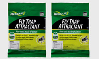 2 ~ Rescue FLY TRAP ATTRACTANT Refill Bait Outdoor Drowns Insects Non-Toxic NEW