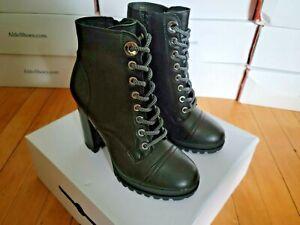 Aldo Women's Marille in Black Leather Biker Boots. Size 6