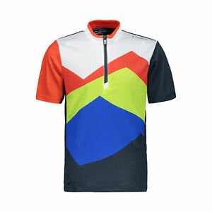 CMP Boys Cycling Shirt Cycling Jersey Kids Freebike T-Shirt Dark Blue Breathable