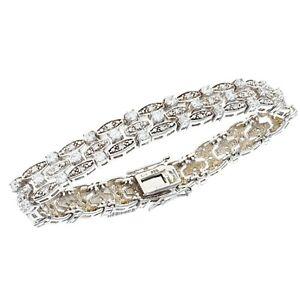 Pandora Sterling Silver CZ Glacial Beauty Slide Bracelet