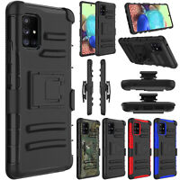 For Samsung Galaxy A71 5G Case Shockproof Hybrid Stand Clip Holster Phone Cover