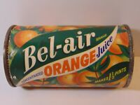 Old Vintage 1940s Bel Air Oranges Orange Juice Graphic Tin Oakland California CA