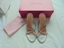 ESCADA Sandaletten NP: 470€ TOP Luxus Schuhe High Heels Pumps Gr. 37