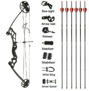 20-50lbs Compound Bow Kit Archery Right Hand Arrows Hunting Shooting Outdoor C50