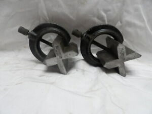 Pair of Starrett No. 268 V-blocks with Clamps
