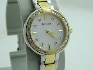 Ladies Bulova Diamond Gallery Diamond Watch 98R172