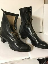 vintage antique high top leather victorian granny boots
