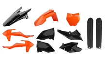 NEW Polisport KTM SX SXF 16 17 18 Plastic Kit & Fork Guards Orange Black