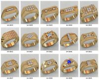 set of men's ring WAX PATTERNS (#m27) for Lost Wax Casting  Jewelry (15pcs)