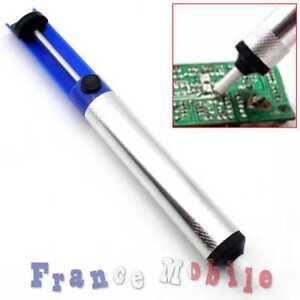 Pompe à Dessouder Embout Téflon fer Souder Soudure Electronique Composant Bleu