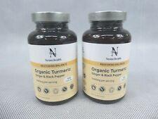 2 x Nesta Health Organic Turmeric Ginger & Black Pepper Capsules Supplement New