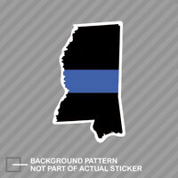 Mississippi State Shaped The Thin Blue Line Sticker Decal Vinyl police MS