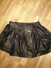 Luxe Love Label Black Pleated Leather Skirt Size 16 Regular
