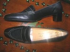 SECO  nº 41 preciosos zapato mujer piel y pelo corto de potro, negros REBAJAS