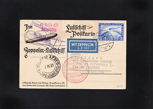 Zeppelin, Luftschiff Postkarte 1931 Berlin nach Rio