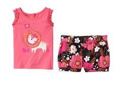 NWT Gymboree SAFARI TWIRL Sz 4T Lion Tank & Floral Shorts